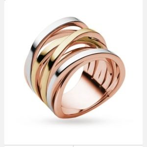 Michael Kors Tri -Toned Ring -Authentic
